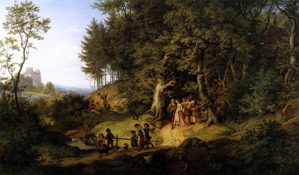 European painting ludwig richter 19th century
