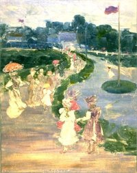 Maurice Prendergast After the Review c. 1895
