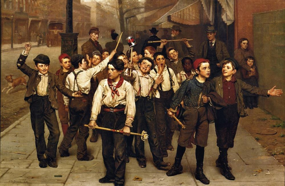 american 19th century painting john george brown