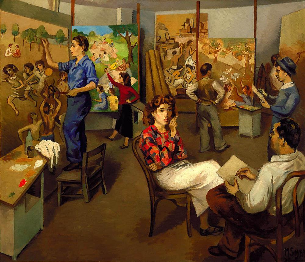 european painting moses soyer