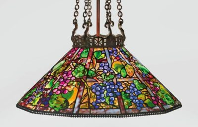tiffany lamp grape shade authentic