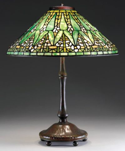 tiffany lamp authentic arrowroot