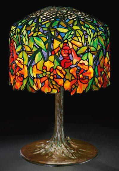 tiffany lamp trumpet creeper table lamp