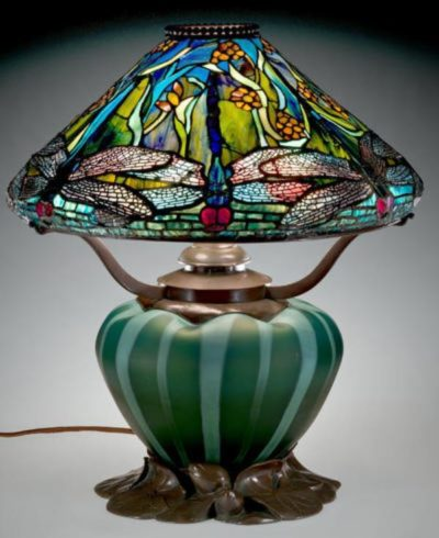 tiffany lamp dragonfly authentic