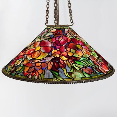 authentic tiffany lamp floral bouquet shade