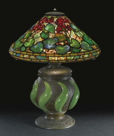 tiffany authentic lamp geranium