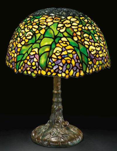 authentic tiffany studios lamp begonia table lamp