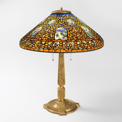 tiffany table lamp russian pattern