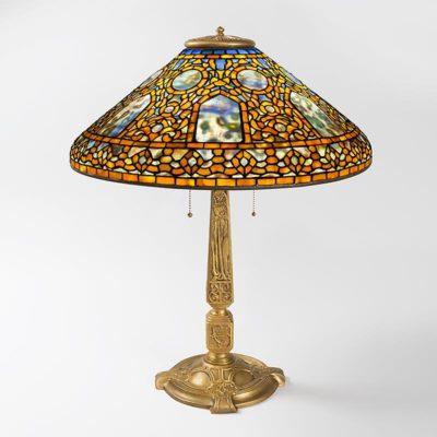 tiffany table lamp russian pattern