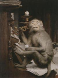 old master painting 19th century gabriel von max austrian painter