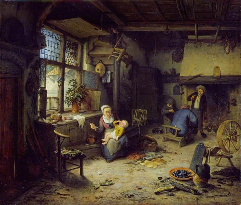 dutch old mastter painting 17th century adrian van ostade