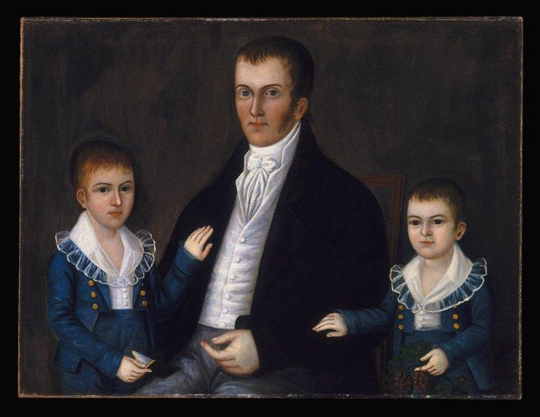 18th Century American -Joshua Johnson - John Jacob Anderson and Sons John and Edward - ca. 1812