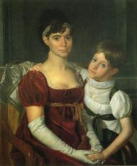 18th Century American - Rembrandt Peale - Alida Livingston Armstrong and Daughter - ca. 1810