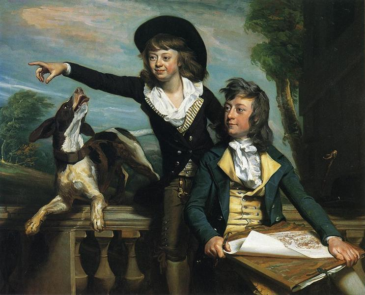 18th Century American - The Western Brothers - John Singleton Copley -1783