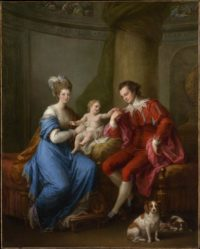 18th Century European - Angelica Kauffman - Earl and Countess of Derby and-Son - ca. 1776