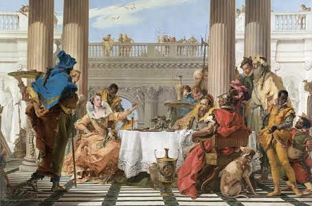 18th Century European - Giovanni Tiepolo - The Banquet of Cleopatra - ca. 1743-1744