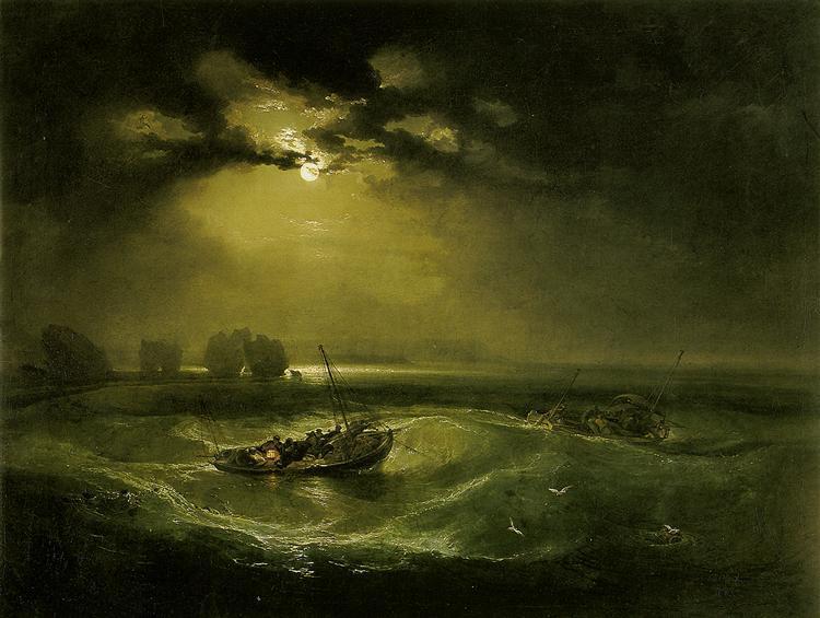 18th Century European - J.M.W.Turner - Fishermen at Sea - ca. 1796