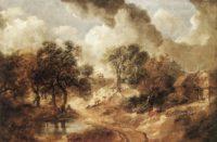 18th Century European - Thomas Gainsborough - Landscape in Suffolk - ca. 1750