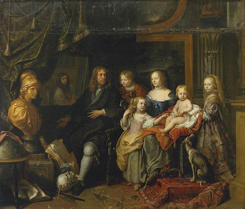 Old Master Painting - Charles Le Brun - Everhard Jabach and His Family - 1660 - French