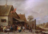 Old Master Painting -David Teniers II - Carnival at Saint George -1645 - Dutch