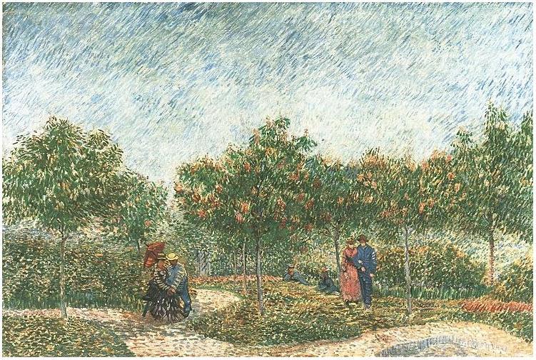 Couples in the Voyer d'Argenson Park at Asnieres Vincent van Gogh 1887